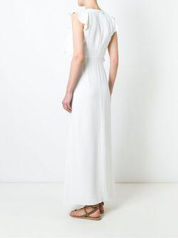 Платье С Рюшами Dondup                                                                                                              белый цвет