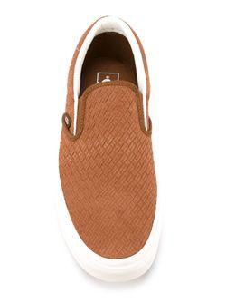 Плетеные Кеды-Слипон Braided Suede Classic Vans                                                                                                              коричневый цвет