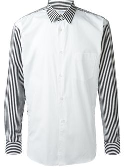 Striped Panel Shirt Comme Des Garcons                                                                                                              чёрный цвет