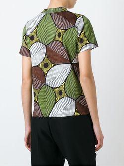 African Flower Print T-Shirt JUNYA WATANABE COMME DES GARCONS                                                                                                              коричневый цвет