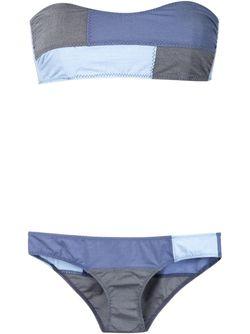 Patchwork Bikini Lisa Marie Fernandez                                                                                                              синий цвет