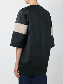 Striped Sleeves Coat Jil Sander Navy                                                                                                              чёрный цвет