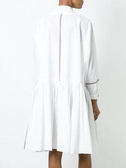 Платье-Рубашка С Контрастными Полосками Wunderkind                                                                                                              белый цвет