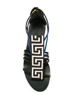 Geometric-Pattern Sandals Casadei                                                                                                              черный цвет