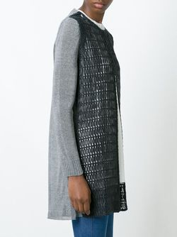Perforated Long Jacket Drome                                                                                                              чёрный цвет
