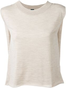 Sleeveless Mélange Top Eleventy                                                                                                              Nude & Neutrals цвет