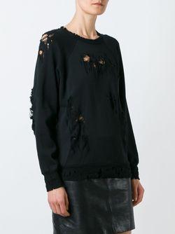 Destroyed Sweater UNRAVEL                                                                                                              черный цвет