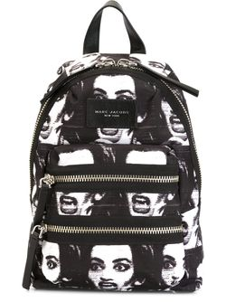 Printed Biker Mini Backpack Marc Jacobs                                                                                                              чёрный цвет