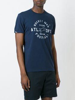 Slim Fit T-Shirt Sun 68                                                                                                              синий цвет