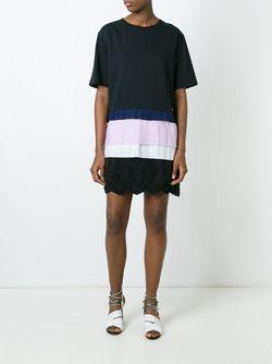 Платье С Контрастной Вставкой MSGM                                                                                                              черный цвет