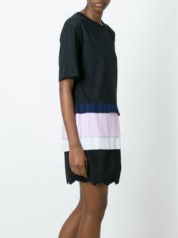 Платье С Контрастной Вставкой MSGM                                                                                                              чёрный цвет