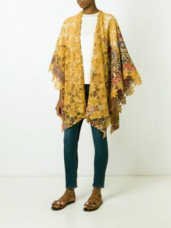 Floral Lace Cape ERMANNO GALLAMINI                                                                                                              желтый цвет