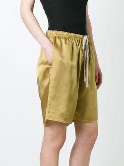Loose Fit Shorts Rick Owens                                                                                                              желтый цвет