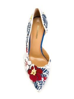 Print Pumps Dsquared2                                                                                                              белый цвет