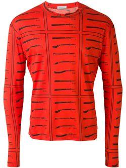 Толстовка С Принтом Knives J.W. Anderson                                                                                                              красный цвет