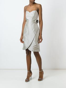 Декорированное Платье С Аппликацией Розы Armani Collezioni                                                                                                              серый цвет