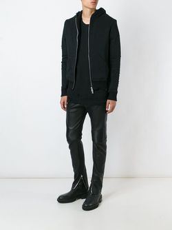 Destroyed Zipped Hoodie AMIRI                                                                                                              чёрный цвет