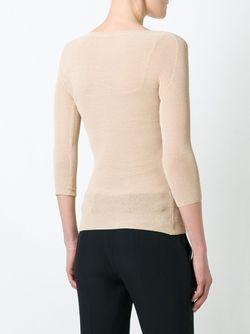 Sheer Knitted Top Ermanno Scervino                                                                                                              коричневый цвет
