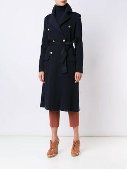 Пальто С Поясом Maiyet                                                                                                              синий цвет