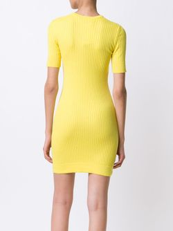 Ribbed Knit Mini Dress Courreges                                                                                                              желтый цвет