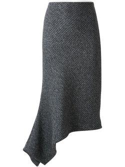 Фактурная Юбка Bassike                                                                                                              серый цвет