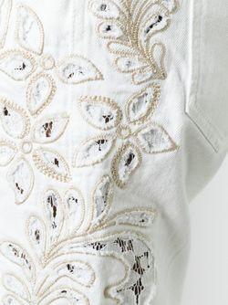 Брюки С Вышивкой Ermanno Scervino                                                                                                              белый цвет