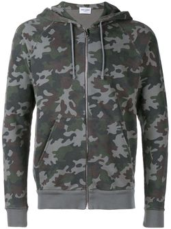 Camouflage Zip-Up Hoodie Saint Laurent                                                                                                              черный цвет