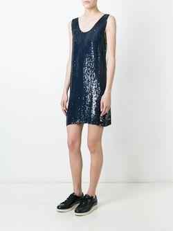 Платье С Пайетками P.A.R.O.S.H.                                                                                                              синий цвет