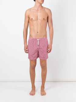 Dotted Print Swim Shorts Kiton                                                                                                              красный цвет