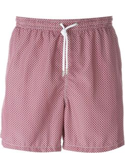 Wavy Print Swim Shorts Kiton                                                                                                              розовый цвет