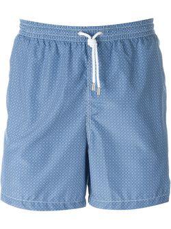 Wavy Print Swim Shorts Kiton                                                                                                              синий цвет