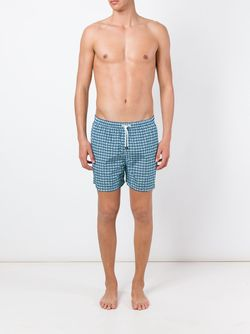 Square Print Swim Shorts Kiton                                                                                                              синий цвет