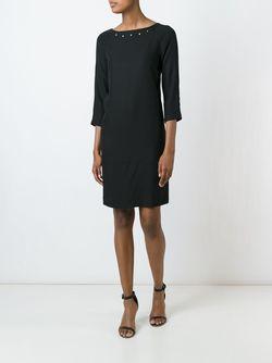 Платье С Заклепками Borbonese                                                                                                              черный цвет
