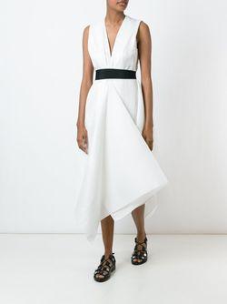 Платье С Трапециевидным Подолом Maison Rabih Kayrouz                                                                                                              белый цвет