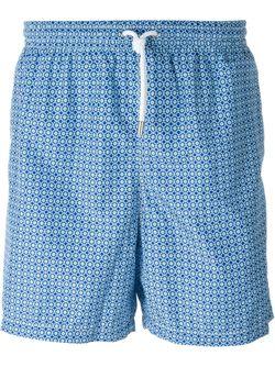 Шорты Для Плавания С Принтом Kiton                                                                                                              синий цвет