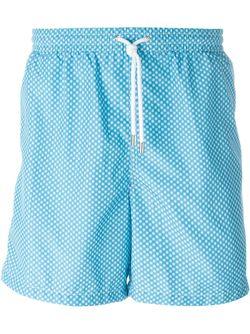 Snowflake Print Swim Shorts Kiton                                                                                                              синий цвет