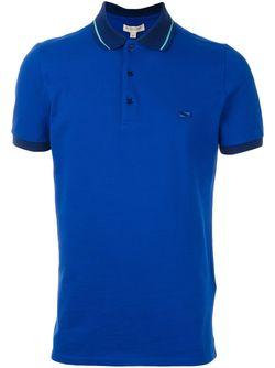Футболка-Поло С Логотипом Burberry London                                                                                                              синий цвет