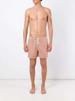 Dotted Print Swim Shorts Kiton                                                                                                              желтый цвет