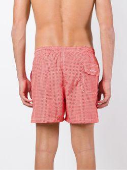 Circle Print Swim Shorts Kiton                                                                                                              красный цвет