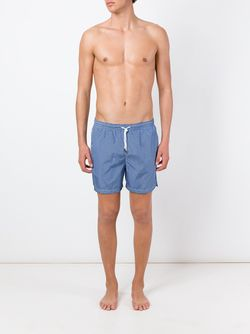 Geometric Print Swim Shorts Kiton                                                                                                              синий цвет
