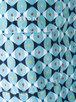 Шорты Для Плавания С Геометрическим Принтом Kiton                                                                                                              синий цвет