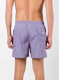 Geometric Print Swim Shorts Kiton                                                                                                              розовый цвет