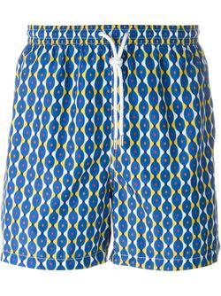 Groovy Print Swim Shorts Kiton                                                                                                              синий цвет