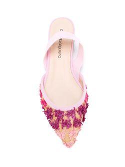 Декорированные Балетки С Открытой Пяткой Anna Baiguera                                                                                                              розовый цвет