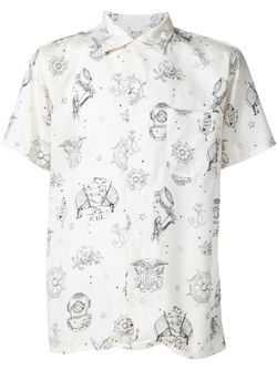 Sailor Print Shirt RRL                                                                                                              белый цвет