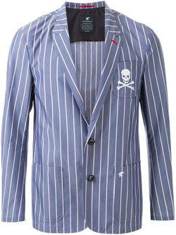 Pinstriped Single Breasted Blazer LOVELESS                                                                                                              синий цвет