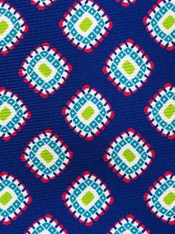 Галстук С Принтом Ромбов Kiton                                                                                                              синий цвет