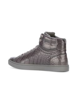 Хайтопы С Эффектом Кожи Крокодила Dolce & Gabbana                                                                                                              серый цвет