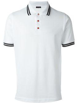 Футболка-Поло С Контрастными Полосками Kiton                                                                                                              белый цвет