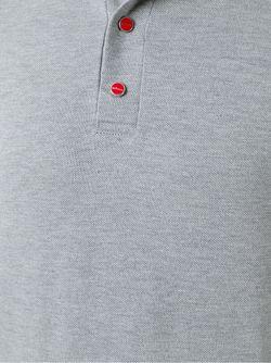 Футболка-Поло С Контрастными Полосками Kiton                                                                                                              серый цвет